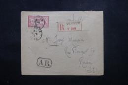 FRANCE - Enveloppe En Recommandé AR De Vernon Pour Rouen En 1919, Affranchissement Merson - L 44208 - Marcophilie (Lettres)