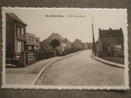 Cpa St. Gillis-Waas Saint-Gilles-Waes (Saint Nicolas) - De Nieuwstraat - Sint-Gillis-Waas