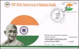 150th Birth Anniversary Of Mahatma Gandhi -FDC(I)-I- - Myanmar (Burma 1948-...)