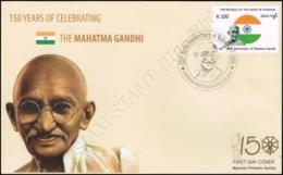 150th Birth Anniversary Of Mahatma Gandhi -FDC(II)-I- - Myanmar (Burma 1948-...)