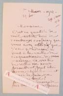 L.A.S 1912 Paul COLIN Peintre Né à Nimes - Vin MARIANI - 50 Ans Mariage - Lettre Autographe LAS - Autographes