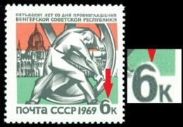 Russia 1969 Strobl Sculpture,Budapest Parliament,Mi.3603,MNH,Variety ERROR - 1923-1991 USSR