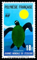 POLYNESIE 1976 - Yv. 108 **   Cote= 19,00 EUR - Ecologie: Tortue Marine  ..Réf.POL24342 - Neufs