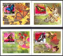A{046} Sao Tome & Principe 2004 Butterflies 4 S/S Deluxe MNH** - São Tomé Und Príncipe