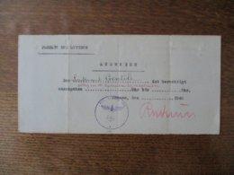 AUSWEISS FACULTE DES LETTRES DER LIEUTENANT GENTILE IST BERECHTIGT AUSZUGEHEN GÜLTIG VON 1er SEPTEMBER 1940 BIS 14 SEPT - Documents