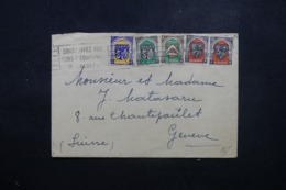 ALGÉRIE - Enveloppe De Alger Pour La Suisse En 1950 , Affranchissement Plaisant - L 44218 - Storia Postale