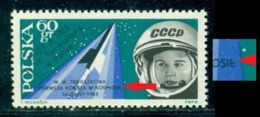 """1963 Space,Tereshkova,Vostok 6,Poland,top Broken""""E""""in """"KOSMOSIE"""",MNH - 1923-1991 USSR"""