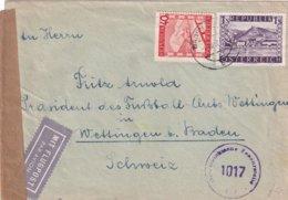 Austria , Censured Airmail To Switserland - 1945-.... 2a Repubblica