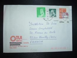 LETTRE Pour La FRANCE TP JUAN GRIS 45 P + 2 P + 1 P OBL.MEC.23 OCT 97 PLAYA DE LAS + TUI SERVICES TENERIFE - 1991-00 Lettres