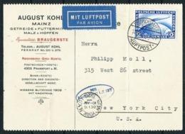 Alemania Imperio (S) Tarjeta Vuelo Zeppelin - Covers & Documents