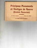 Carnet De14 CPA -LA SOMME (80) -Principaux Monuments Et Vestiges De Guerre -(British Memorials) - France