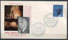 "First Day Cover Germany 1960 Mi.Nr.344 Ersttagsbrief""1.Todestag Von George C.Marshall,Friedensnobelpreis"" 1FDC - Nobel Prize Laureates"