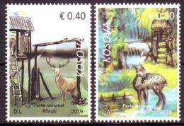 Kosovo 2019 Nature Park Animals Fauna Deer, Definitive Set MNH - Stamps