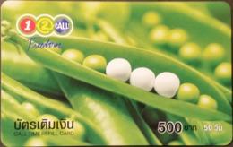 Mobilecard Thailand - 12Call - Schoten,Erbsen - 500 Baht - Alimentazioni