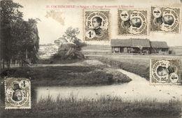CPA Vietnam Indochine COCHINCHINE Saigon - Paysage Annamite A Khan-hoi (62656) - Viêt-Nam