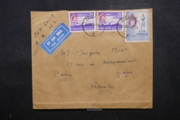 SINGAPOUR - Enveloppe En 1958 Pour Paris , Affranchissement Plaisant - L 44232 - Singapore (...-1959)