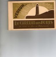 Carnet De 20 CPA - VERDUN - Le Circuit Des Forts - (55 Meuse) . - Oorlog 1914-18