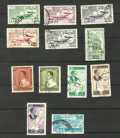 Liban Poste Aérienne N°161 à 165, 181, 184, 186, 210 à 212, 218 Cote 3.55 Euros - Líbano