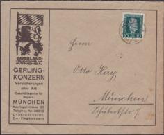 Germany - Mi. 368 EF Werbebrief, Gerling Konzern Versicherung In München 1925. - Deutschland