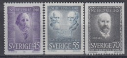 SWEDEN 697-699,unused - Nobel Prize Laureates