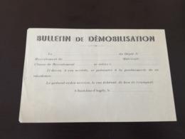 39-45  Bulletin De Démobilisation VIERGE FRANCAIS ALLEMAND ST JEAN D ANGELY En L Etat Sur Les Photos - 1939-45