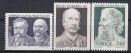 SWEDEN 833-835,unused - Nobel Prize Laureates