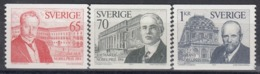 SWEDEN 886-888,unused - Nobel Prize Laureates