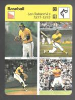 GF502 - FICHES RENCONTRE - SPORTCASTERS - BASEBALL - OAKLAND A'S - SAL BANDO REGGI JACKSON ROLLIE FINGERS CATFISH HUNTER - Baseball
