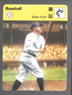 GF501 - FICHES RENCONTRE - SPORTCASTERS - BASEBALL - BABE RUTH - Baseball