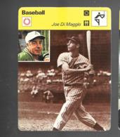 GF500 - FICHES RENCONTRE - SPORTCASTERS - BASEBALL - JOE DI MAGGIO - Baseball