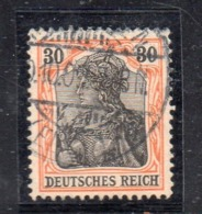 GERMANIA IMPERO 1905 , 30 Pf N. 87 Usato   . DEUTSCHES - Germania