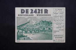 ALLEMAGNE - Carte De Radio Amateur De Wuerzburg - L 44248 - Vieux Papiers