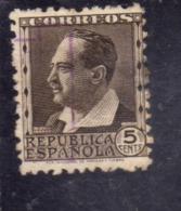 SPAIN ESPAÑA SPAGNA 1931 1934 BLASCO IBANEZ CENT. 5c USED USATO OBLITERE' - 1931-50 Oblitérés