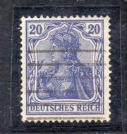 GERMANIA IMPERO 1905 , 20 Pf N. 85 Usato   . DEUTSCHES - Germania