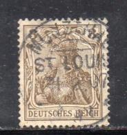 GERMANIA IMPERO 1905 , 3 Pf N. 82 Usato   . DEUTSCHES - Germania