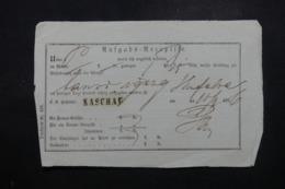 ALLEMAGNE - Vieux Papier De 1866 , à Voir - L 44251 - Old Paper