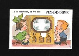 C.P.A. AVEC DEPLIANT DU PUY DE DOME 63 - Francia