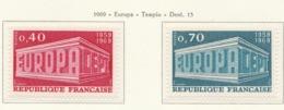 PIA - FRANCIA - 1969 : Europa - Tempio  -  (Yv 1598-99) - Europa-CEPT