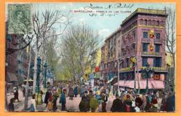 Barcelona Spain 1915 Postcard Mailed - Barcelona