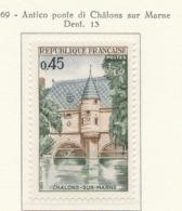 PIA  - FRA - 1969 : Antico Ponte Di Chalons Sur Marne - (Yv  1602) - Ponti