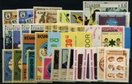 Ecuador Nº 787/92, 794A/F, 798, 886/90, 974/5, 977/9, 993/93C, 996/7, 1004, 1006/9, 1058, 1073/4, 1080/1, 1097. Año 1967 - Ecuador