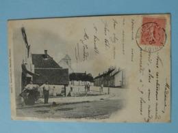 """ECHILLEUSE  (Loiret) -- Place Et Eglise - Cpa """"précurseur"""" 1903 - ANIMATION - France"""