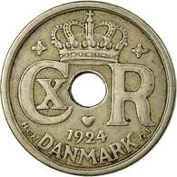 Monnaie, Danemark, Christian X, 25 Öre, 1924, Copenhagen, TB+, Copper-nickel - Dänemark