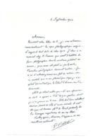 LIEUTENANT GEORGES BELLENGER (1878 - 1977) LAS AUTOGRAPHE ORIGINAL AUTOGRAPH AVIATION WW1 /FREE SHIP. R - Autogramme & Autographen