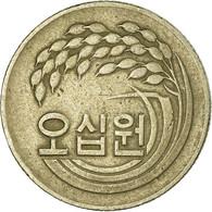 Monnaie, KOREA-SOUTH, 50 Won, 1974, TB+, Copper-Nickel-Zinc, KM:20 - Corée Du Sud