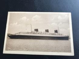 Compagnie Generale Transatlantique NORMANDIE Arrivée Au Havre - 1937 Timbrée - Paquebots
