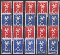 Europa Cept 1958 France 2v (10x) ** Mnh (44984) - 1958