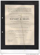 Euguene Rapaert De Grass Volontaire De Guerre 1914-18 °Brugge 1884 + 4/2/1937 Goethals Coppieters D'Udekem D'Acoz - Avvisi Di Necrologio