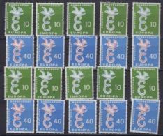 Europa Cept 1958 Germany 2v (10x) ** Mnh (44985) - 1958