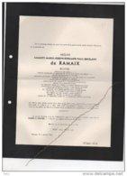 Arnould De Ramaix Philosophie Es Lettres Lonescout +15/11/1948 Grune Van De Werve De Vorsselaer Empain - Avvisi Di Necrologio